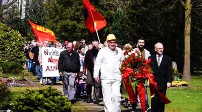 Gedenken an die Rote Ruhrarmee 7. April 2018 Gelsenkirchen