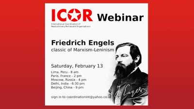ICOR webinar on Friedrich Engels