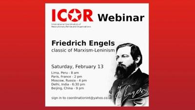 ICOR webinar on Friedrich Engels