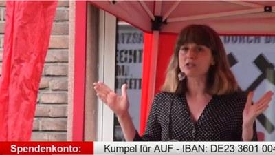 Protestkundgebung gegen die Ruhrkohle AG