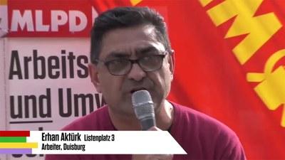 Rede von Erhan Aktürk bei der Auftaktkundgebung zum Wahlkampf