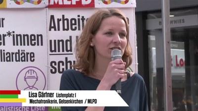 Rede von Lisa Gärtner bei der Auftaktkundgebung zum Wahlkampf