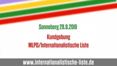 Wahlkampfauftakt der Internationalistischen Liste/MLPD in Sonneberg
